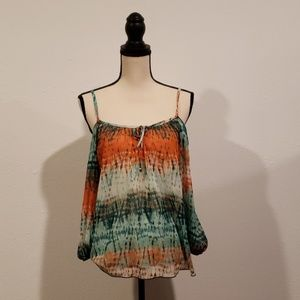 NWOT, BCX Cold shoulder blouse